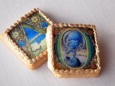 Illuminated Manuscript Cookies- This is from the Luminarium Blog from Anniina.