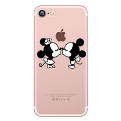Mickey&Minnie kiss Lips pineapple unicorn Flamingo cactus panda Clear soft silicone cases cover for iphone 6 6S 5S SE 7 plus