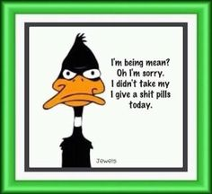 Im being mean quotes quote lol funny quote funny quotes looney toons daffy duck bugs bunny humor