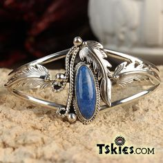 https://tskies.com Lapis Applique Bracelet by Andrew Vander - Turquoise Skies
