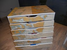 Decoupage an IKEA Alex unit