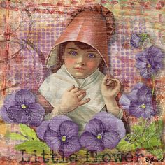 LITTLE FLOWER by Barb Gould using: Chick-a-Choo by 2 Curly Headed Monsters Designs/2 Twisted Chicks available at Mischief Circus.