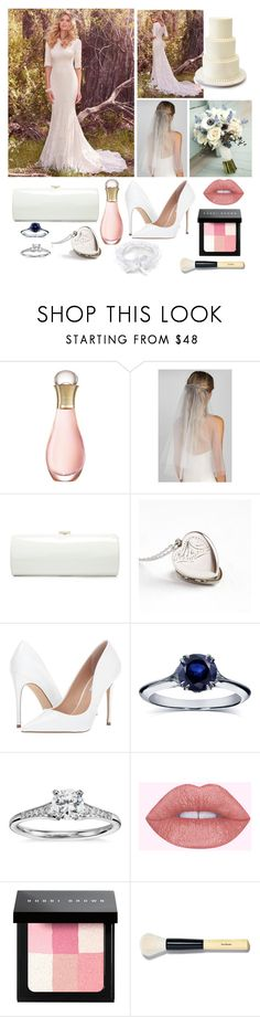 """""""Wedding"""" by o-p-backe ❤ liked on Polyvore featuring Christian Dior, Maggie Sottero, Wedding Belles New York, Jimmy Choo, Steve Madden, Annello, Blue Nile and Bobbi Brown Cosmetics"""