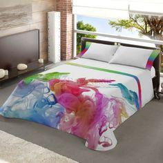 Deco-Fichaje Textiles a todo Color Creative Colour, Toddler Bed, Textiles, Quilts, Interior Design, Pillows, Architecture, House, Furniture