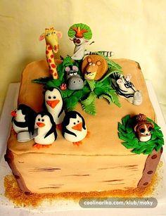 Movie Theme Cake, Movie Cakes, Madagascar Party, Different Types Of Cakes, Cupcake Cakes, Cupcakes, Animal Cakes, Disney Cakes, Cakes For Boys
