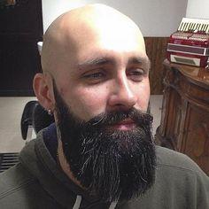 smooth bald beard