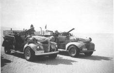 WWII - British Army Long Range Desert Group (LRDG) Ford trucks, North Africa