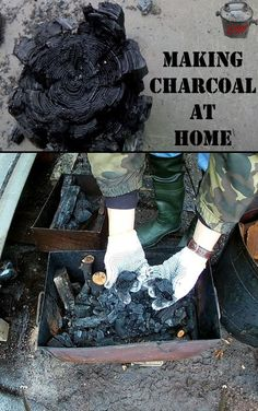 Making Charcoal at Home. Free DIY Fuel. #survivaltips