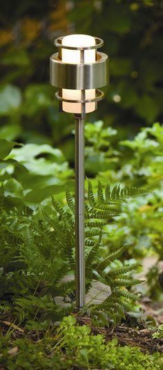 Features: -One light path light. -For outdoor use. -CETL listed for wet locations. -Includes a wedge base bulb and is 18 watts. -Has to be plugged into a transformer. Cool Lighting, Outdoor Lighting, Lighting Design, Sidewalk Lighting, Modern Exterior Lighting, Path Lights, Hinkley Lighting, Outdoor Landscaping, Landscaping Jobs