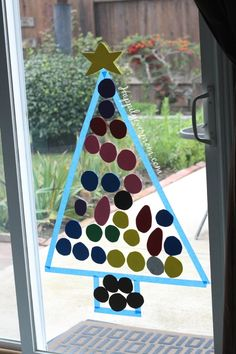 Easiest ever christmas activity for kids - step away from the real tree kids...this one is ALL yours!