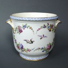 Vincennes: A Rare Vincennes Soft Paste Porcelain Wine Cooler, circa 1752