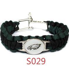 NFL Philadelphia Eagles Paracord Bracelet for Women /& Men Paracord Survival Strap Bracelet