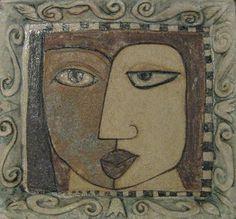 """Sculpture /Ceramic Relief """"Pablos Girl"""""""