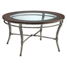 Have to have it. Stein World Verona Round Metal with Wood and Glass Top Coffee Table - $269.99 @hayneedle.com