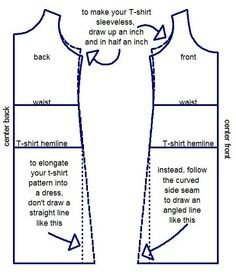 simple dress patterns for beginners - Google Search