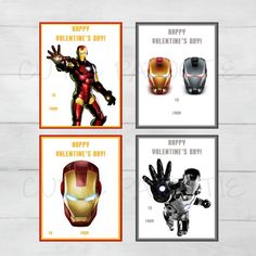 Iron Man Valentine's Cards for Kids by CutiePatootieRoomie on Etsy
