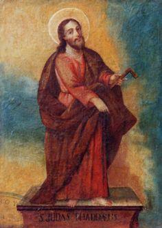 """San Judas Tadeo"" colonial venezolano siglo XVIII."