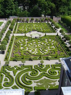 Palace Het Loo, garden seen from the roof of the palace