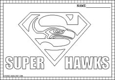 seattle seahawks printable page | Seattle Seahawks: Free Coloring Pages