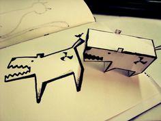 x-16: Perroide. Experiencia en Papercraft.