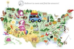 Washington post - points of interest map, notice that north and south dakot Washington Map, The Washington Post, 50 States Of Usa, United States, Trivia Quiz, Trivia Games, State Of Play, World History Lessons, 1 Gif