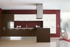 Modern Wenge and Cherry Wood Kitchen Designs