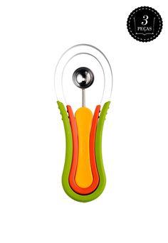 Conjunto Limpador De Frutas Scoop Troop 3 peças Multicolorido - Compre Agora | Dafiti Brasil