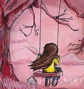 Gina - card alone girl on a swing Pencil Drawing Tutorials, Pencil Drawings, Art Drawings, Black Girl Art, Art Girl, Flower Leg Tattoos, Swing Painting, Alone Girl, Girly Drawings