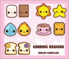 Matching Earring Designs by A-Little-Kitty.deviantart.com on @DeviantArt