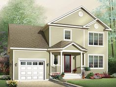 Country House Plan with 1465 Square Feet and 3 Bedrooms from Dream Home Source | House Plan Code DHSW53005