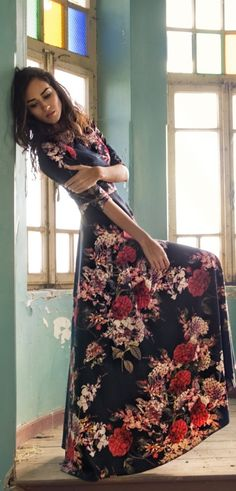 Amazing long floral dress.