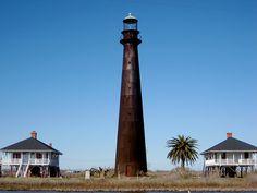 Bolivar Point Lighthouse  Port Bolivar, TX  near Galveston