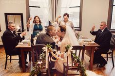 Cheers to John and Clare, adorable intimate wedding at Creativo Loft in Chicago.