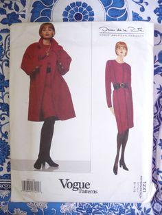 Vogue Pattern   1331        OSCAR DE LA RENTA   -  Size:  12-14-16   - Uncut