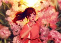 - spirited away - studio ghibli - chihiro - haku - noface - anime - manga