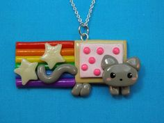 I found 'Nyan Cat Hypoallergenic Necklace Kawaii Polymer Clay' on Wish, check it out!