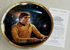 Vintage 1991 Star Trek TOS 25th Anniversary Commemorative Collection: Chekov Limited Edition Hamilton Plate Collection with COA (ref 4057)