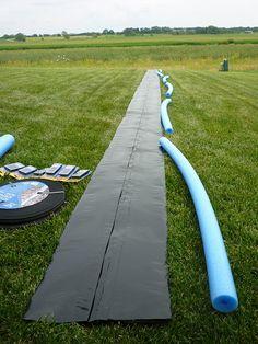 DIY Slip n Slide! Totally doing this!!