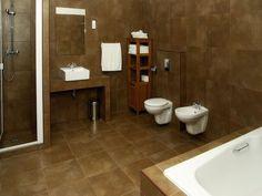 luxury bathroom, modern bathroom, brown design