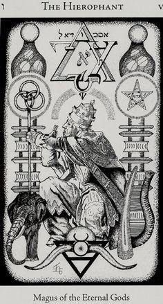 The_Hierophant - Hermetic tarot - Godfrey Dawson
