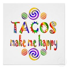 Do you love tacos? We do! Taco Love, Lets Taco Bout It, My Taco, Tuesday Humor, Tuesday Quotes, Taco Tuesday, Taco Pictures, Taco Pics, Make Me Happy