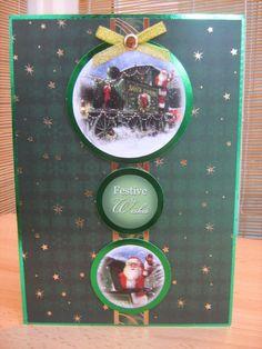 Handmade Christmas Card  Santa Express Train Card  by KibbsCards, £2.49