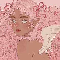 Black Girl Cartoon, Black Girl Art, Art Girl, Fanart, Fairytale Art, Female Character Design, Magic Art, Kawaii Art, Cupid