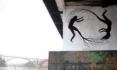 New Tree Murals by Pablo S. Herrero #trees #street art #murals