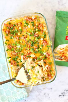 The Best Loaded Hashbrown Casserole - The PennyWiseMama Twice Baked Potatoes Casserole, Hashbrown Breakfast Casserole, Potatoe Casserole Recipes, Hash Brown Casserole, Tajin Recipes, Frozen Hashbrowns, Veggie Frittata, Best Casseroles, Rhubarb Recipes