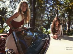 tune in, drop out: maggie laine and matilda dods by stefania paparelli for elle australia october 2015 | visual optimism; fashion editorials, shows, campaigns & more!