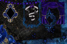 Gothic Debutante Digital Scrapbook Kit goth digital paper | Etsy