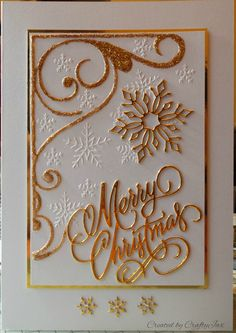 Christmas Card With Memory Box And Tattered Lace Dies