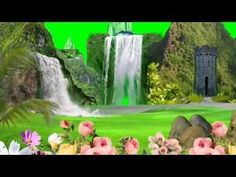 Waterfall Background green Screen 2018 - YouTube