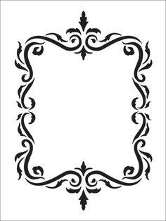 Flourish Frame Stencil